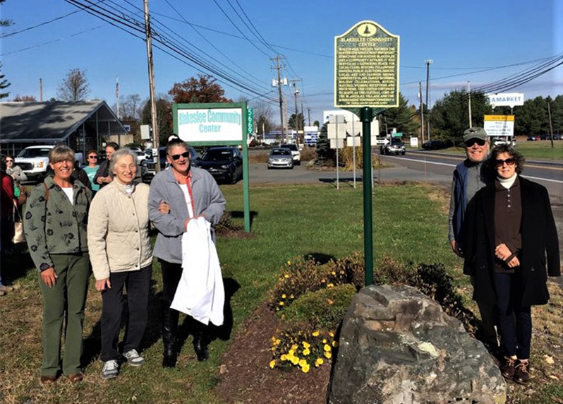 From left, Blakeslee Community Association board members Tammy Livziey, Chris Matirko, Lorraine Koscuisko, Pat Simonik, and Michele Simonik.