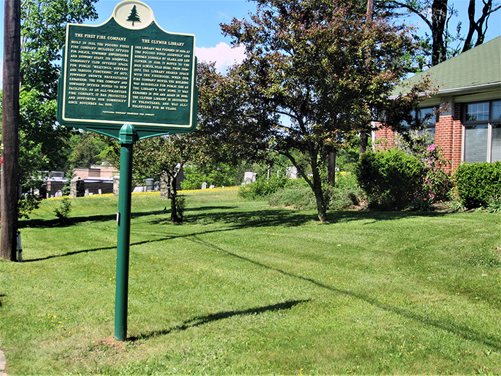 The marker was installed on the lawn of the Clymer Library on May 30, 2017.