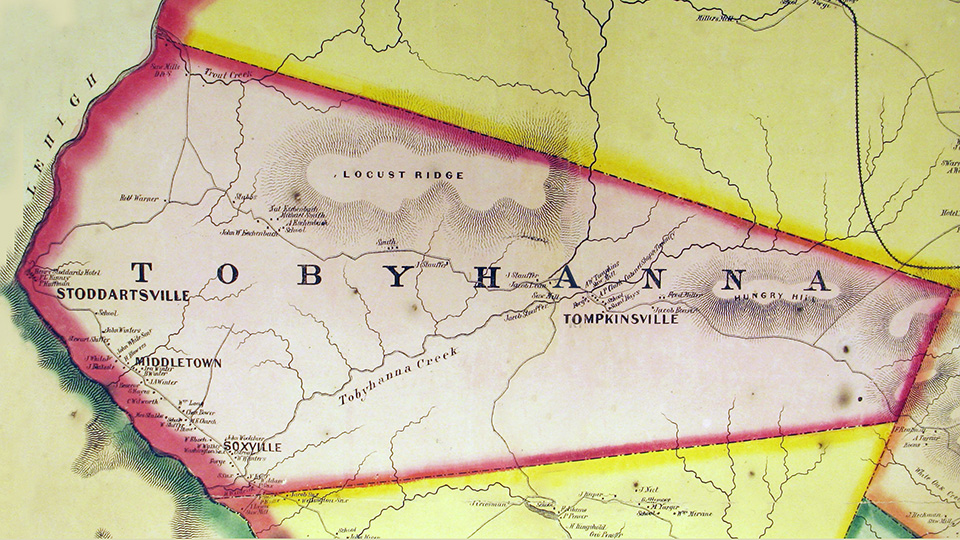 Old Tobyhanna Township Map Historical Association of