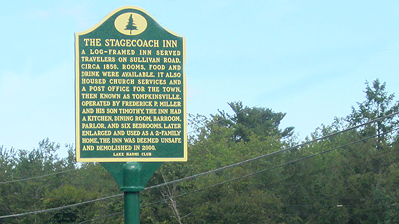 The Stagecoach Inn historical marker.
