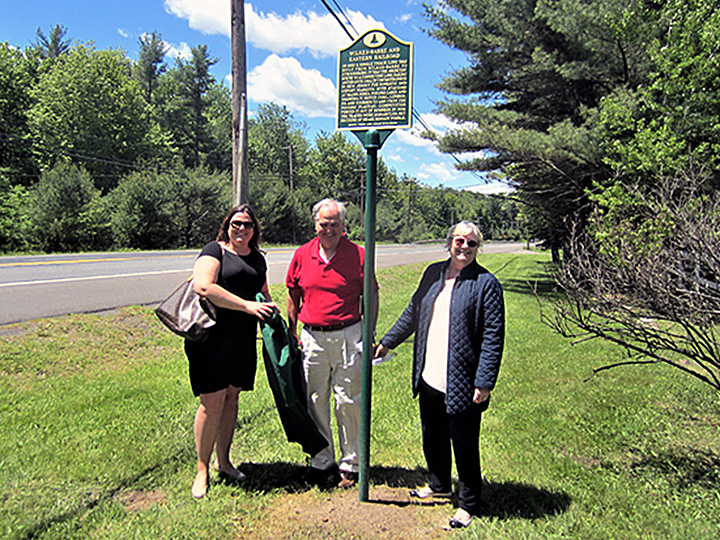 Sarah, Bruce and Trudi Denlinger sponsored the Wilkes-Barre & Eastern Railroad marker.